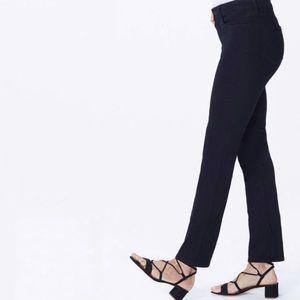 Nydj black Sheri slim ankle jeans new 16